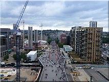 TQ1985 : Construction work on Olympic Way, Wembley by Richard Humphrey