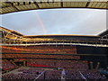 TQ1985 : Rainbow over Wembley Stadium by Richard Humphrey