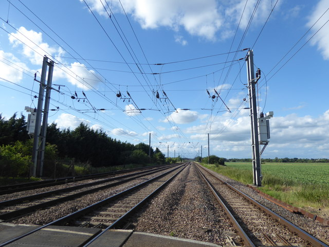The East Coast Main Line from Holmegreen Level Crossing