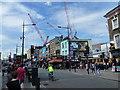 TQ2884 : Cranes near Camden High Street by Richard Humphrey