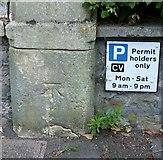 ST5773 : Bench mark, 11 Richmond Park Road by Alan Murray-Rust