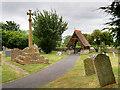 SP0846 : St Nicholas' Churchyard, Medieval Cross and Lychgte by David Dixon