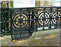 ST5773 : Area railings, Victoria Square West by Alan Murray-Rust
