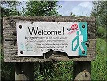 NO2306 : Sign near Craigmead car park, Lomond hills by Bill Kasman