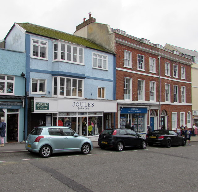 Joules and a former Lloyds Bank branch in Lyme Regis