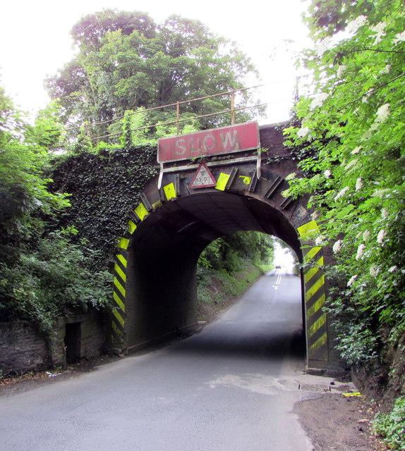 East side of a railway bridge north of Kemble