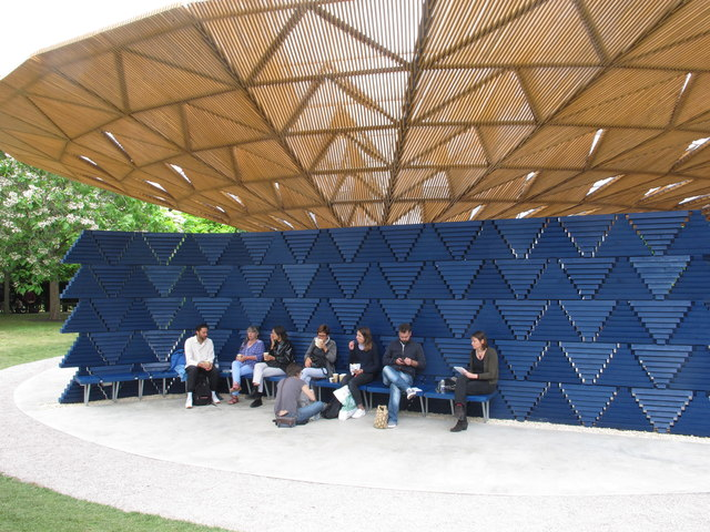 Serpentine Gallery Pavilion 2017, wall and seating