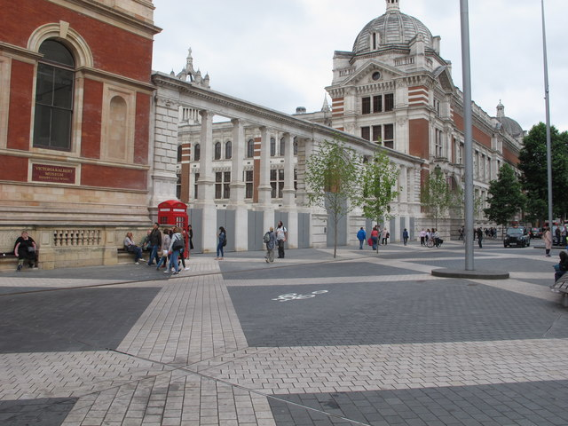 New Exhibition Road entrance to V & A