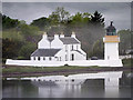 NN0163 : Corran Point Lighthouse and Keeper's House by David Dixon