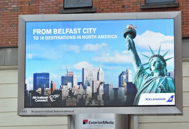 Icelandair advertisement, Belfast (June 2017)