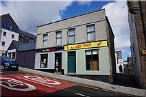 HU4741 : Businesses on Harbour Street, Lerwick by Ian S