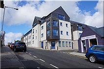 HU4741 : Flats on Harbour Street, Lerwick by Ian S