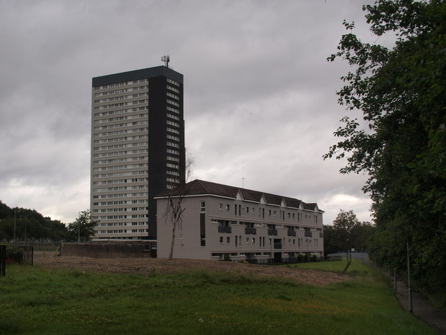 Kennishead tower block