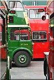 TQ0762 : Inside the London Bus Museum, Brooklands by David Martin