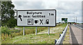 J3295 : Advance direction sign, Ballybracken, Ballynure/Larne (July 2017) by Albert Bridge