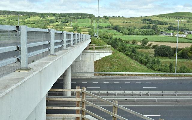 The Moss Road flyover, Ballybracken, Ballynure/Larne (July 2017)