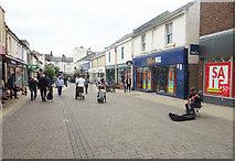 TQ2804 : Street musician, George Street, Hove by Julian Osley