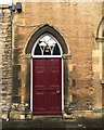 TF0307 : Painted wooden door, St Mary's Street, Stamford by Robin Stott
