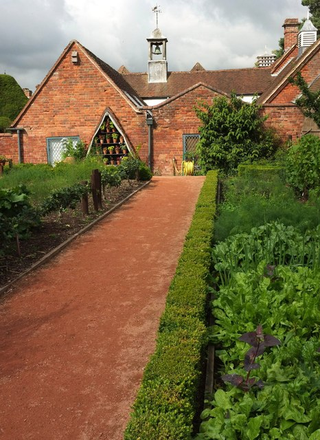 Kitchen garden and stables, Packwood House