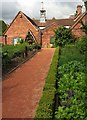 SP1772 : Kitchen garden and stables, Packwood House by Derek Harper
