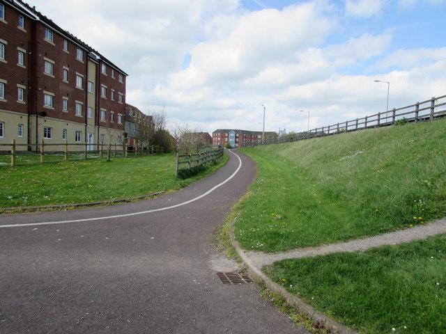 Path from Linham Road to Western Way, Bridgwater