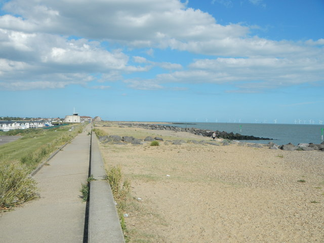 Sea Wall and Beach, Seawick
