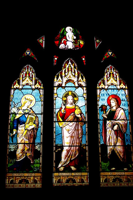 Christ with the Blessed Virgin and St John