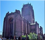 SJ3589 : Liverpool Anglican Cathedral, Entrance by Len Williams
