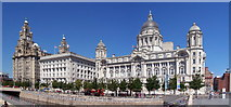SJ3390 : Liverpool, The Three Graces by Len Williams