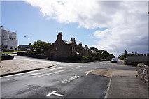 HU4741 : St Olaf Street at King Erik Street, Lerwick by Ian S