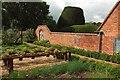 SP1772 : Wall, kitchen garden, Packwood House by Derek Harper