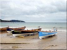 SW8031 : Racing Gigs on Gyllyngvase Beach Falmouth (2) by Roy Hughes