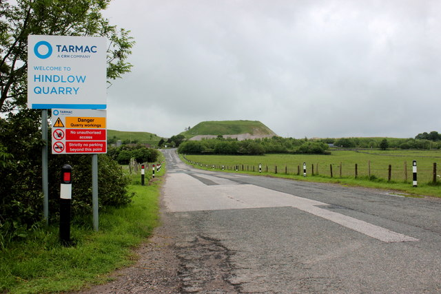 Entrance to Hindlow Quarry