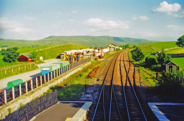 Kirkby Stephen (West) station and panorama  southwards, 2000