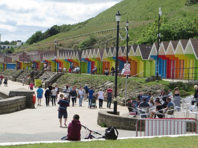 North Bay promenade and beach huts, Scarborough