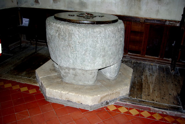 Font in St Stephen's Church