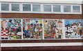 ST2280 : Minehead Road mural detail, Llanrumney, Cardiff by Jaggery