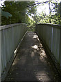 ST6364 : Wooden footbridge by Neil Owen