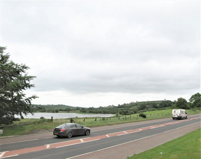 The A24 near Dairy Lake, north of Ballynahinch