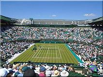 TQ2472 : Court 1, Wimbledon by Paul Gillett