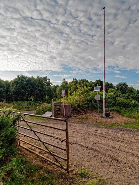 Entrance to MOD Fort George Range