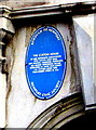 ST3187 : The Custom House blue plaque, Lower Dock Street, Newport by Jaggery