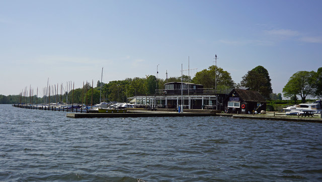 Norfolk Broads Yacht Club at Wroxham Broad