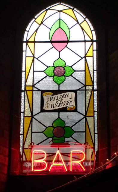 Stained glass window, Union Chapel, Islington