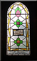TQ3184 : Stained glass window, Union Chapel, Islington by Julian Osley