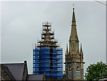 H4472 : Scaffolding at Sacred Heart Church, Omagh by Kenneth  Allen