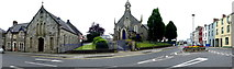H4472 : Trinity Hall and Church, John Street and James Street, Omagh by Kenneth  Allen