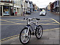 H4572 : Bike, Market Street, Omagh by Kenneth  Allen