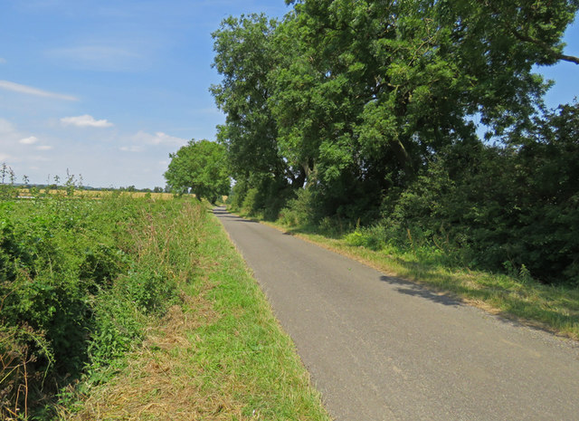 Gaddesby Lane towards Frisby