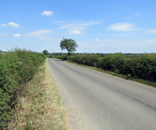 Station Road towards Great Dalby